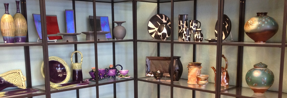 Our fine crafts gallery features unique handmade gift items, including pottery, jewelry, wood, glass, metal and more.