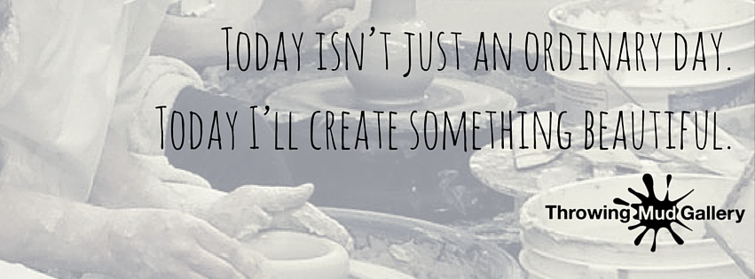 Today isn't just an ordinary day.  Today I'll create something beautiful